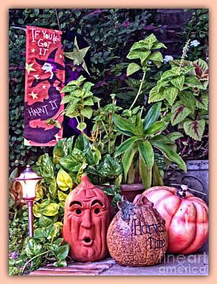 Who Scared Pumpkin Head? Halloween Display Art Print