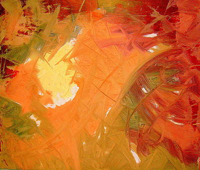 Abstrac Painting - Who Walks By Day Will Not Stumble Because He Sees The Light Of This World. by Lalo Gutierrez