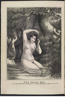 Depictions Of Nudity Photograph - Who Wants Me ? by British Library
