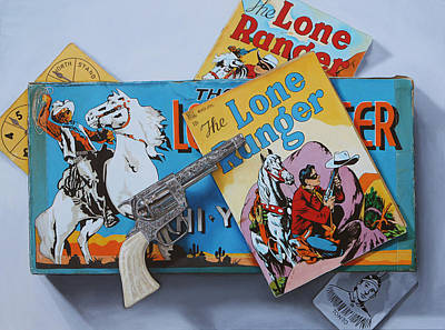 Lone Ranger Painting - Who Was That Masked Man? By K Henderson by K Henderson