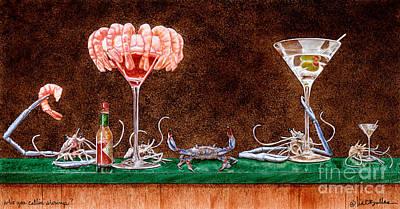 Who You Callin Shrimp... Art Print by Will Bullas