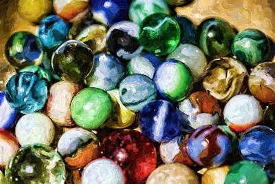 Marble Eyes Digital Art - Whole Bag Of Marbles by Kaye Adams
