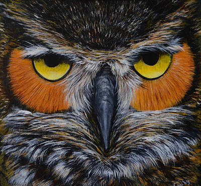 Whooo Is Looking At You? Art Print