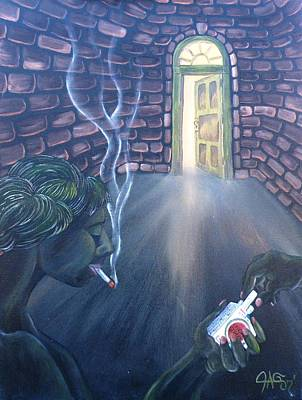 Painting - Whores In The Alley Smoking Their Luck Strikes by The GYPSY And DEBBIE