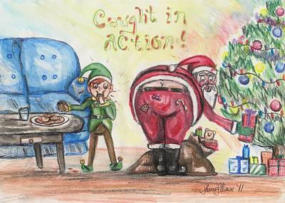 Drawing - Who's Been Eating Your Cookies? by Shana Rowe Jackson