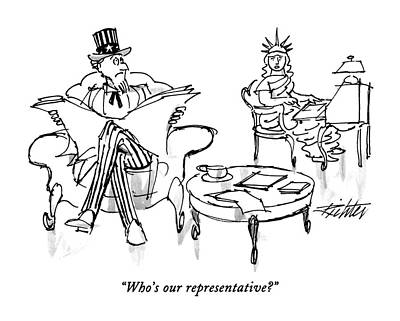 Who's Our Representative? Art Print by Mischa Richter