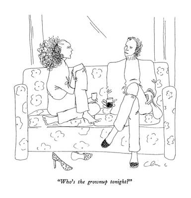 Wine Drawing - Who's The Grownup Tonight? by Richard Cline