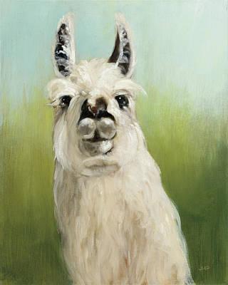 Llama Painting - Whos Your Llama I by Julia Purinton