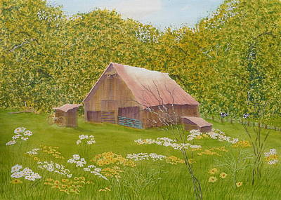 Painting - Whose Barn - What Barn - My Barn  by Joel Deutsch