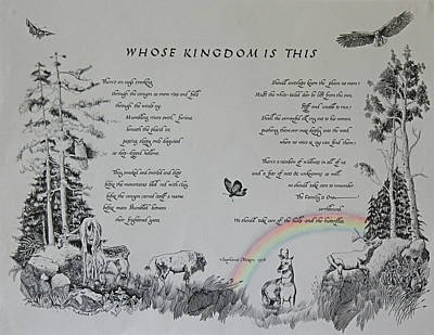 Native Plants Drawing - Whose Kingdom Is This by J Tanner