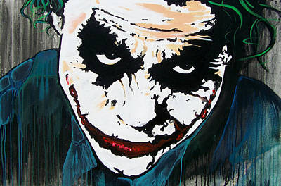 Heath Ledger Wall Art - Painting - Why So Serious by Jack Irons