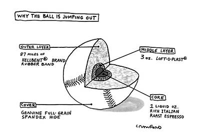 Recent Drawing - Why The Ball Is Jumping by Michael Crawford