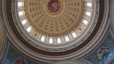 Photograph - Wi State Capitol Architecture 2 by Anita Burgermeister
