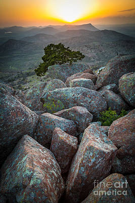 Wichita Photograph - Wichita Mountains by Inge Johnsson