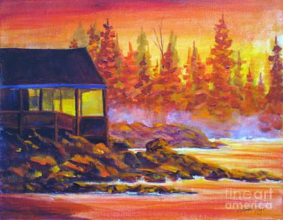 Sun Rays Painting - Wickaninnish Inn by Mohamed Hirji