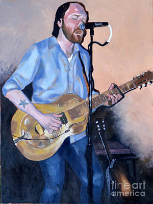 Painting - Wicked Blues Sean Pinchin by Joan McGivney