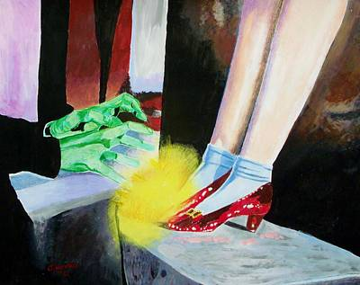 Judy Garland Painting - Wicked Frustration by Jeremy Moore
