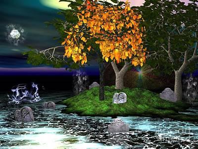 Digital Art - Wicked In The Darkest Hours Of Night by Jacqueline Lloyd