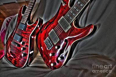 Wicked Relations Digital Guitar Art By Steven Langston Art Print by Steven Lebron Langston
