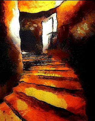Wicked Stairs Print by Gun Legler