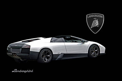 Photograph - Wicked White Lamborghini by Gill Billington