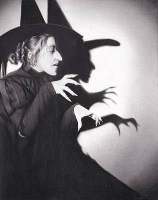 Charcoal Drawing Drawing - Wicked Witch by Brittni DeWeese