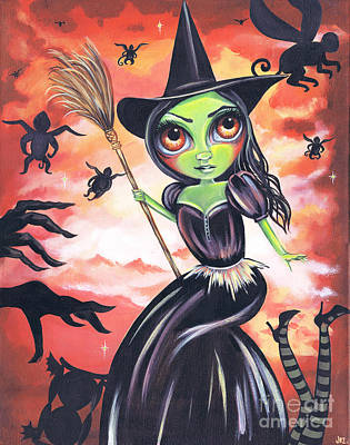 Wicked Witch Of The West Art Print by Jaz Higgins