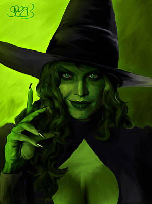 Wicked Witch Of The West Print by Mark Spears