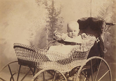 Photograph - Wicker Baby Pram by Paul Ashby Antique Image