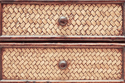 African Fabric Photograph - Wicker Drawers by Tom Gowanlock