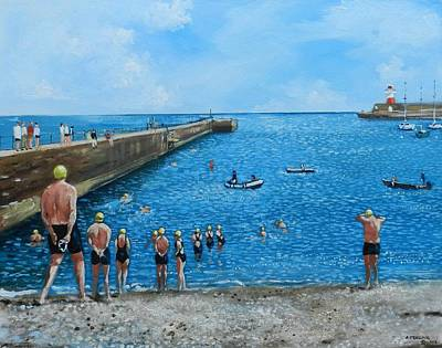 Painting - Wicklow Swim by Robert Teeling