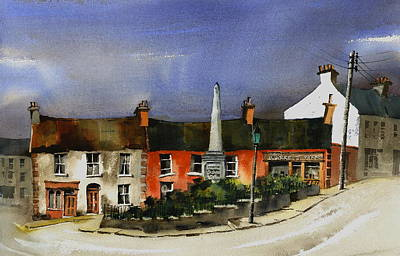 Mixed Media - Wicklow Town by Val Byrne