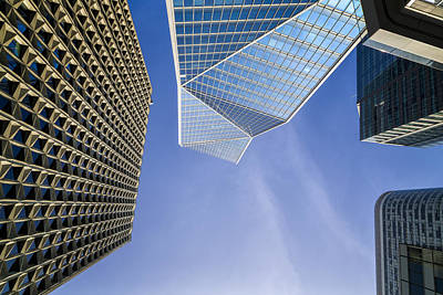 Photograph - Wide-angle View Of Modern Buildings by Francesco Rizzato