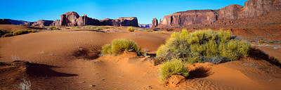 Wide Angle View Of Monument Valley Art Print