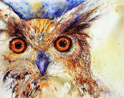 Wide Eyed_ The Owl Art Print