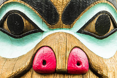 Taxmen Photograph - Wide Eyes Totem by Steven Bateson