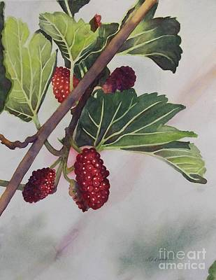 Painting - Wide Mulberries by Deane Locke