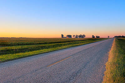 Photograph - Wide Open Roads - Rural Georgia Landscape by Mark E Tisdale
