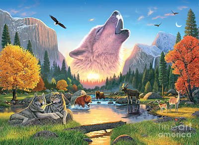 Wolf Photograph - Widerness Harmony by Chris Heitt