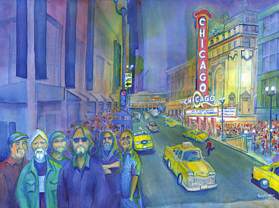 Painting - Widespread Panic Chicago  by David Sockrider