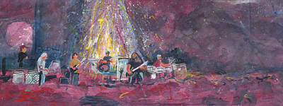 Widespread Panic Painted Live  Art Print by David Sockrider