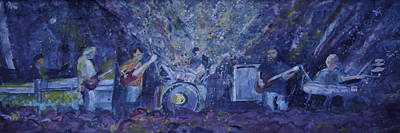 Painting - Widespread Panic Painted Live Two by David Sockrider