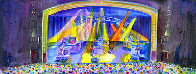Painting - Widespread Panic Peabody Opera House by David Sockrider