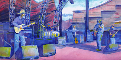 Painting - Widespread Panic Redrocks by David Sockrider