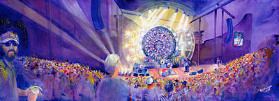 Painting - Widespread Panic Thursday Redrocks by David Sockrider