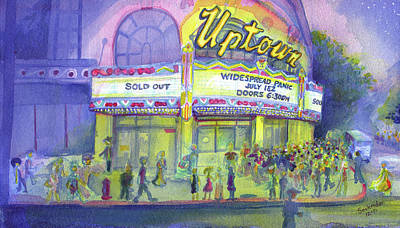 Painting - Widespread Panic Uptown Theatre  by David Sockrider