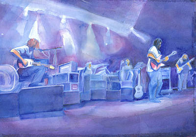 Painting - Widespread Panic With Michael Houser  by David Sockrider