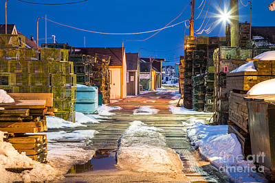 Maine Landscape Photograph - Widgery Wharf Blue Hour by Benjamin Williamson