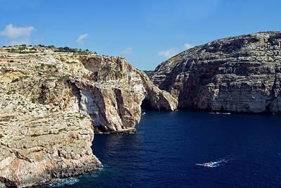 Maltese Photograph - Wied Iz Zurrieq, Aerial View, Malta by Nico Tondini