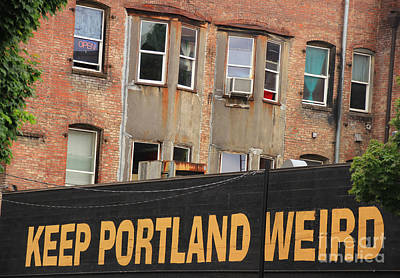 Weird And Wonderful Portland Art Print by Kris Hiemstra